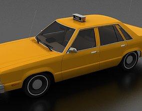 3D model Fairmont 4dr sedan 1978 Taxi unmarked