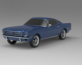 1967 Ford Mustang Nurbs and 3D Printable