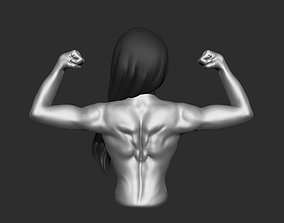 Bodybuilding back pendant 3D printable model