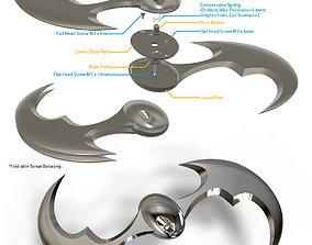 Sonar Batarang - Fold-able design 3D printable model