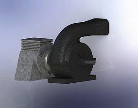 Blower assembly 3D model