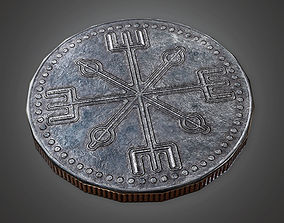 Ancient Treasure Coin 02 TRS - PBR Game Ready 3D asset