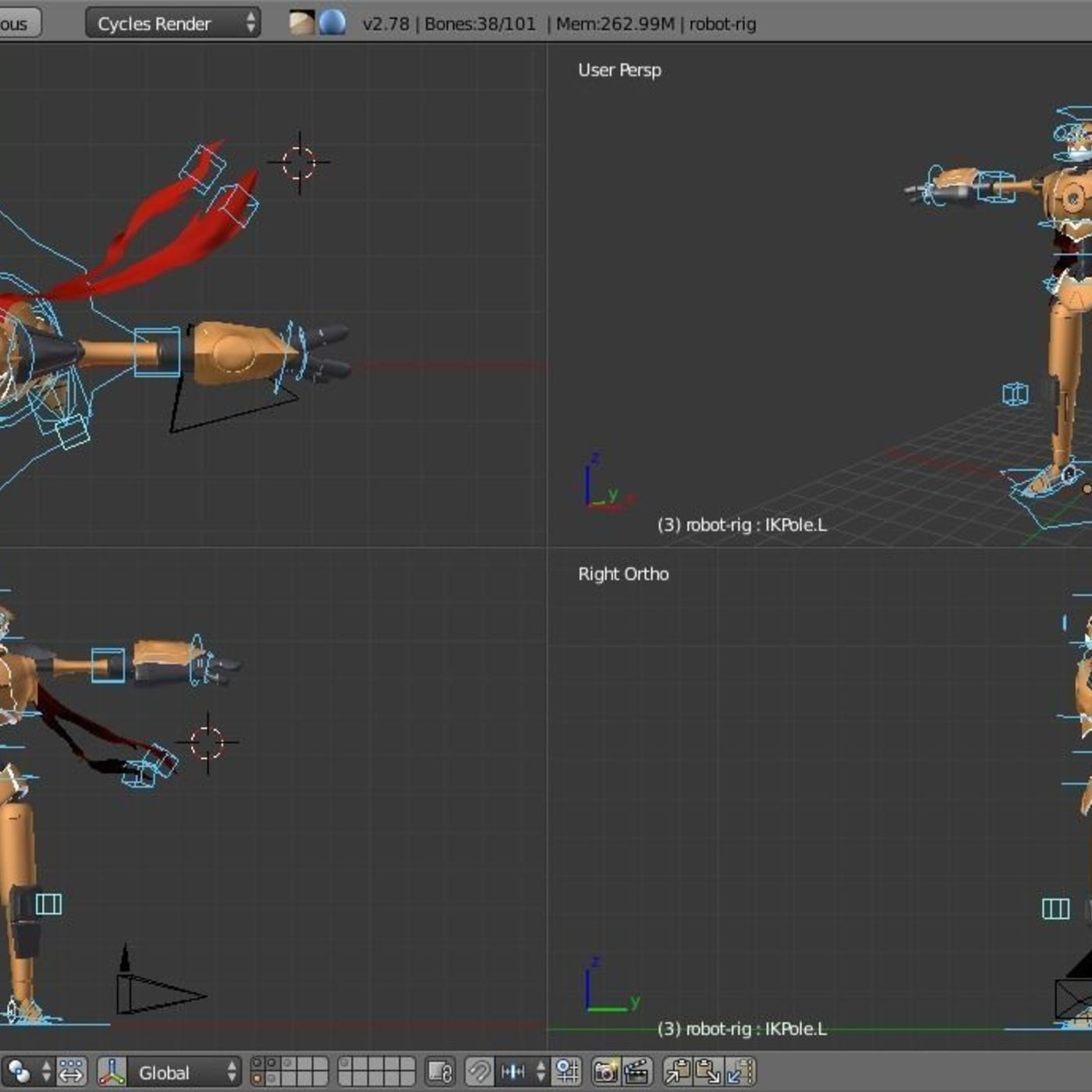 Skater robot_rigged character
