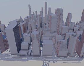 New York lower Manhattan 3D model