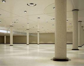 3D model Modern Spacious Empty Garage Scene