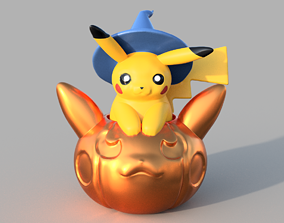 pikachu Pikachu Flying Pumpkin 3D printable model