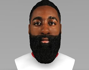 James Harden bust ready for full color 3D printing