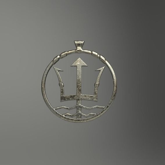Poseidon Pendant for 3dPrint