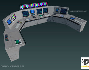 Control Center Set 3D asset