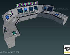 Control Center Set 3D asset
