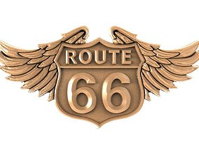3D printable model Route 66 bas-relief
