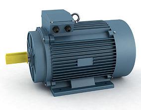 Electric motor 3D model energy