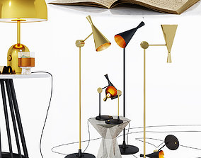 3D Tom Dixon lamps and tables