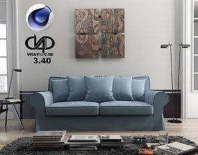Living Room C4D and Vray 3 40 3D