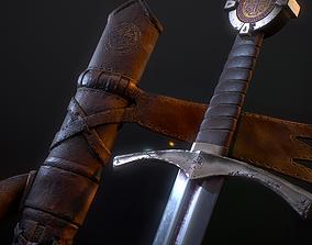 Templar Sword 3D asset