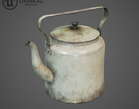 3D model Teapot Rusty