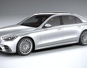 3D model Mercedes-Benz S-Class AMG long 2021