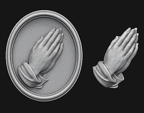 3D printable model Praying Hands Medallion