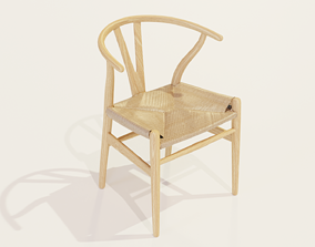3D asset low-poly WishBone Chair