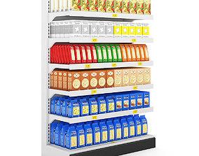 Supermarket Shelf supermarket 3D model