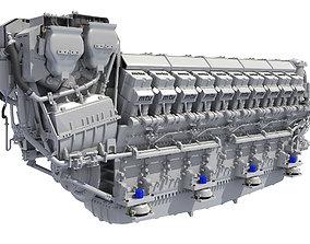 V20 Propulsion Diesel Engine 3D model