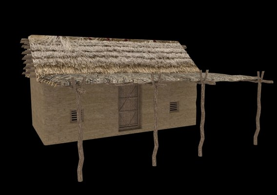 Poor House or Mud Houses (cootages)