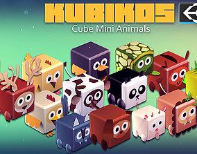 KUBIKOS - 22 Animated Cube Mini Animals 3D model