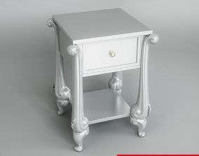 Bedside Table 3D model drawers
