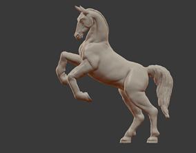 Horse on rears 3D print model
