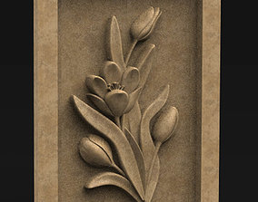 3D print model Decorative Panel Tyulpany