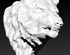 Angry wolf dog 3D print model