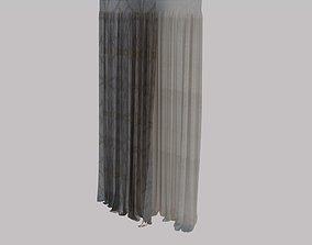 Curtain textile 3D model