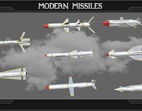 Modern missile set 3D model