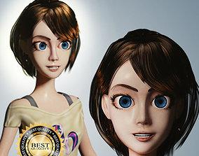 3D model Cartoon Women Rigged