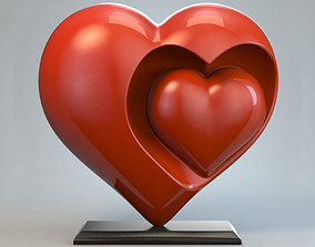 stl Heart Sculpture Love Red P 3D print model