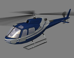 As-350 V5 Helicoopter 3D model