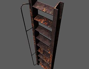 3D asset VR / AR ready Rust ladder