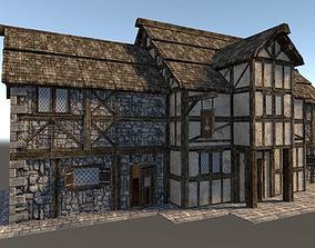 3D asset Medieval City House 06