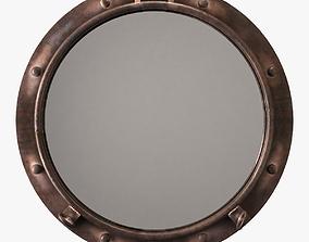 Cyan design porto rustic bronze mirror 3D model