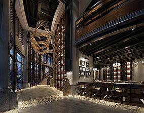 Light Hotel Luxury restaurant 07 3D