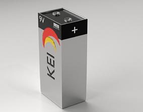 3D model Battery 4 - 9V