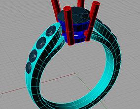 Solitaire Round diamond 3D printable model 2