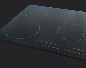 low-poly plate induction plate for kitchen or Low-poly 3D