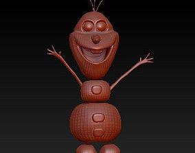snowman Olaf 3D print model