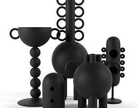 vases Les Noirs Decorative Objects 3D model