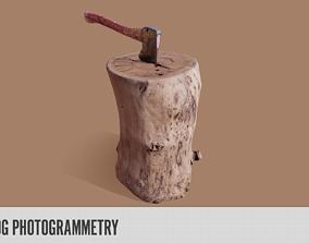 3D asset Axe n Log Photogrammetry