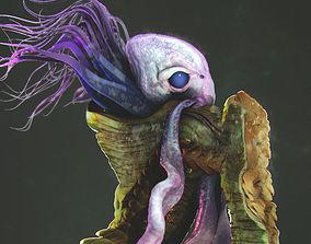 3D model shell Sea Creature - Highpoly