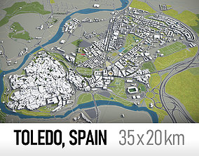 3D asset Toledo - Spain - town and surroundings