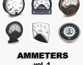 vintage Vintage analog ammeters collection vol1 3D