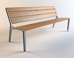 3D model WAX Mmcite Miela Park bench Set 01